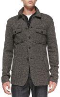 John Varvatos Rawedge Sweater Jacket - Lyst