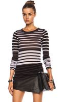 Enza Costa Cashmere Bold Crew - Lyst