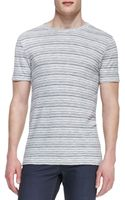 Theory Striped Crewneck T-shirt - Lyst