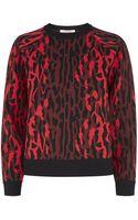 Valentino Leopard Print Sweater - Lyst