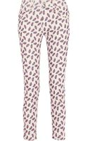 Etoile Isabel Marant Iceo Printed Midrise Corduroy Skinny Jeans - Lyst