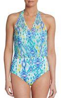 La Blanca Swim Ikatprint Convertible Onepiece Swimsuit - Lyst