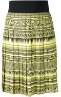 Fausto Puglisi Greek Theme Pleated Skirt - Lyst