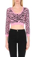 Moschino Cheap & Chic Animal-print Knitted Jumper - Lyst