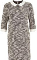 River Island Grey Boucle Knit Shift Dress - Lyst