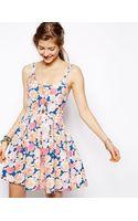 Mink Pink Floral Frenzy Low Back Skater Dress - Lyst