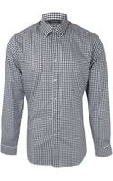Paul Smith Black and White Gingham Check Cotton Shirt - Lyst