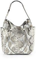 Jimmy Choo Anna Metallic Python Shoulder Bag - Lyst