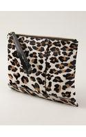 Marni Leopard Print Clutch - Lyst