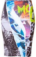 McQ by Alexander McQueen Printed Pencil Skirt - Lyst