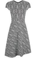 Stella McCartney Herringbone Short Sleeve Dress - Lyst