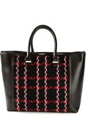 Victoria Beckham Liberty Checked Tote Bag - Lyst