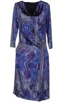 Angelo Marani Kneelength Dress - Lyst