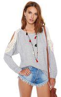 Nasty Gal New Romantic Knit Light Gray - Lyst