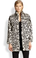 Haute Hippie Leopardprint Rabbit Fur Coat - Lyst