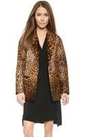 Rag & Bone Sigrid Leopard Haircalf Coat  - Lyst