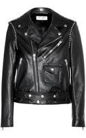 Saint Laurent Studded Leather Biker Jacket - Lyst
