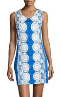 Muse Floral Lace-trimmed Doupioni Dress - Lyst