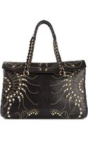 Roberto Cavalli Studded Shoulder Bag - Lyst