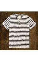 Denim & Supply Ralph Lauren Striped Shortsleeved Henley - Lyst