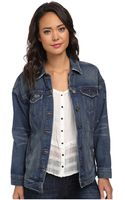Free People Long Indigo Denim Jacket - Lyst