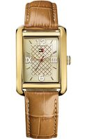 Tommy Hilfiger Womens Camel Crocoembossed Leather Strap Watch 27mm - Lyst