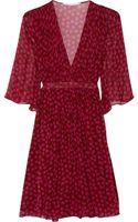 Diane Von Furstenberg Printed Silkgeorgette Wrap Dress - Lyst