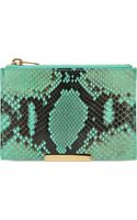 Sophie Hulme Snake Small Zip Pouch Fluro Green Snake - Lyst