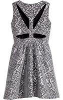 H&M Jacquard-patterned Dress - Lyst