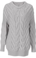 Stefanel Irish Stitch Sweater - Lyst