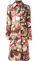 Emilio Pucci Vintage Abstract Print Coat - Lyst