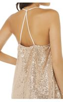 Akira One Night Sequin Dress in Champagne - Lyst
