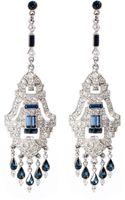Ben-amun Bridal Sapphire Chandelier Earrings - Lyst