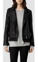AllSaints Axel Leather Biker Jacket - Lyst