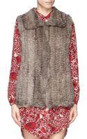 H Brand Primrose Rabbit Fur Knit Gilet - Lyst