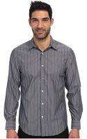 Perry Ellis Long Sleeve Stripe Pattern Non Iron Shirt - Lyst