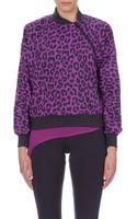 Adidas By Stella Mccartney Leopard-print Waterproof Top - Lyst
