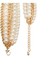 Forever 21 Layered Faux Pearl Necklace - Lyst
