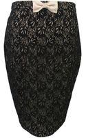Sugarhill Lacey Black Pencil Skirt - Lyst