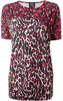 McQ by Alexander McQueen Boxy Leopard Print Top - Lyst