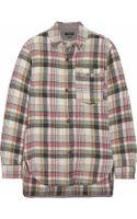 Isabel Marant Milane Embellished Plaid Linen and Woolblend Shirt - Lyst