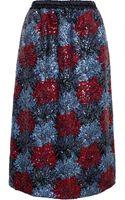 No 21 Sequin Silk-blend Pencil Skirt - Lyst