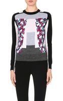 Peter Pilotto Crew Neck Knitted Jumper Orchid Crimson - Lyst