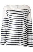 Current/Elliott Striped Shirt - Lyst