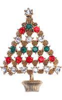 Jones New York Goldtone Christmas Tree Pin - Lyst