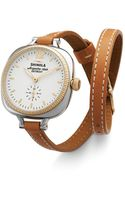 Shinola The Gomelsky Double Wrap Strap Watch 36mm - Lyst
