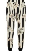Suno Printed Stretch-jersey Tapered Pants - Lyst