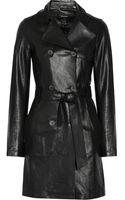 Mackage Olesya Leather Trench Coat - Lyst