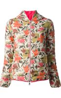 Duvetica Floral Print Padded Jacket - Lyst