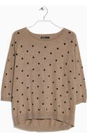 Mango Polkadot Wool Blend Sweater - Lyst